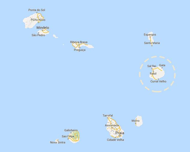 mappa di Capo Verde